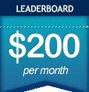 Leaderboard: $00 per month