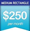 Medium Rectangle: $300 per month